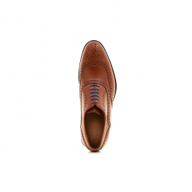 Serfan Oxford Men Calf Leather Cognac Blue