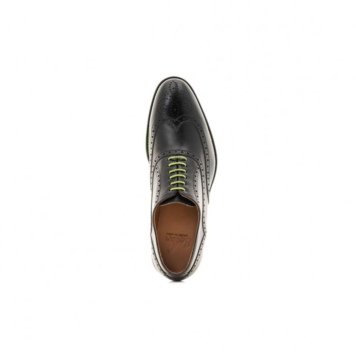 2e4ed21f0643cd Serfan Oxford Men Calf Leather Black Green