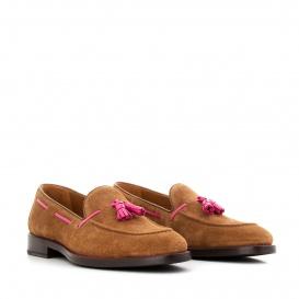 Serfan Loafer Women Suede Cognac Pink