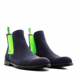 Serfan Chelsea Boot Men Suede Blue Green