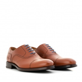 Serfan young fashion Oxford Men Calf Leather Cognac