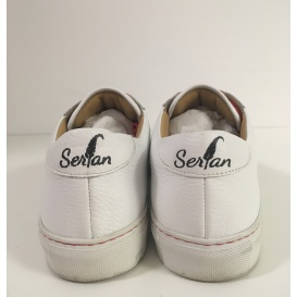 Serfan Sneaker Women Smooth Leather White Red
