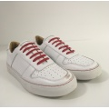 Musterschuh - Serfan Sneaker Damen Glattleder Weiß Rot