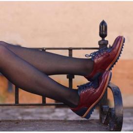 Limitierte Serfan Sport Oxford Damen Blau Rot