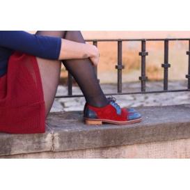 Limitierte Serfan Sport Oxford Damen - Bordo Blau