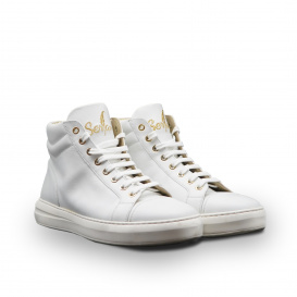 Serfan High Sneaker Men white gold