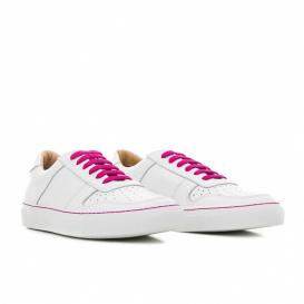 Serfan Sneaker Women Smooth Leather White Pink