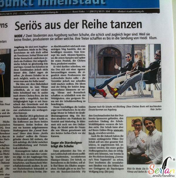 Serfan in der Stadtzeitung