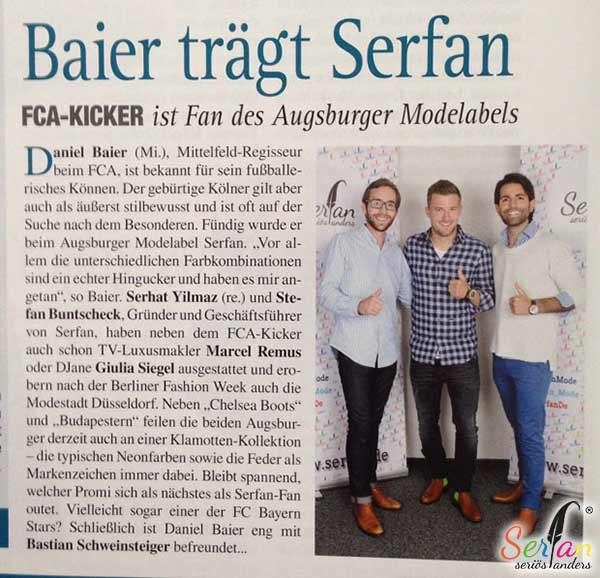 Augsburg Journal schreibt über neuen Serfan-Fan