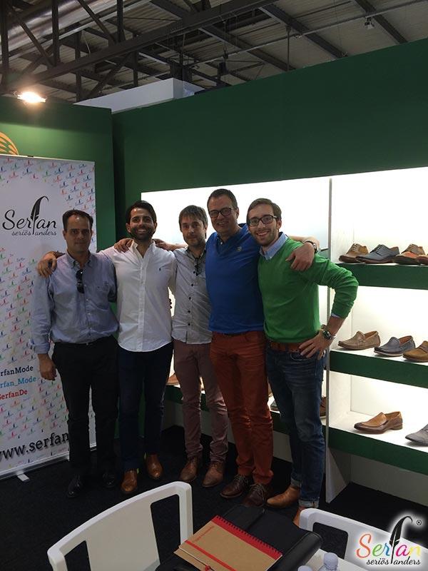 Serfan auf der internationalen Schuhmesse