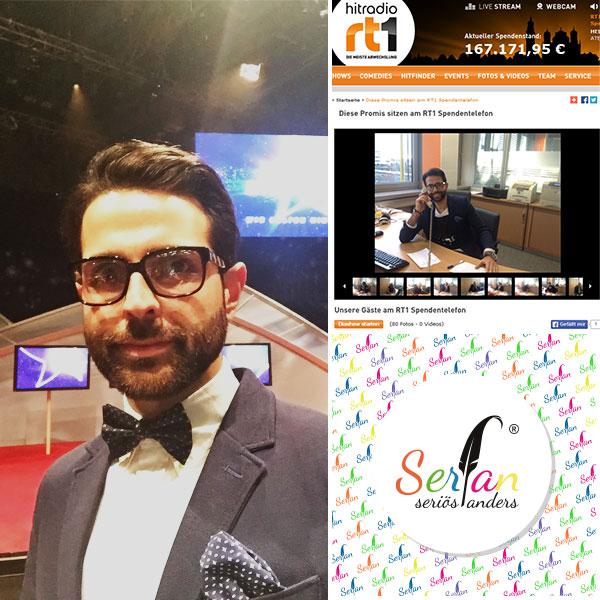 Serfan und Designer Serhat Yilmaz engagiert sich wohltätig.