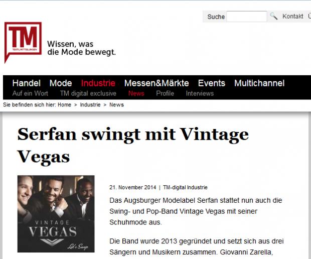 Die Band Vintage Vegas trägt das Label Serfan