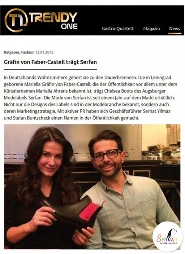 marielle Ahrens trägt Chelsea Boots von Serfan