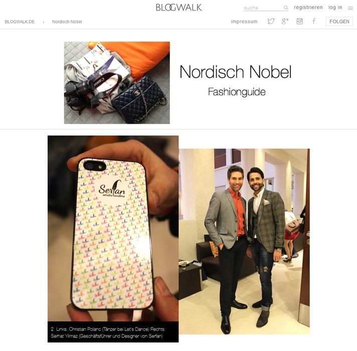 Bloggerin Gisa von Nordisch Nobel traf Designer Serhat Yilmaz auf der Fashion Week in Berlin.