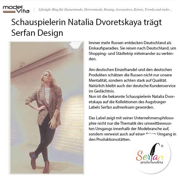 Natalia Dvoretskaya trägt Serfan Schuhe, die Designer Serhat Yilmaz entworfen hat.