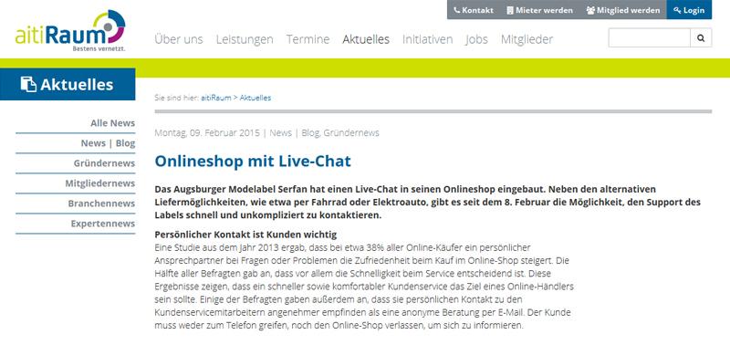 Serfan hat nun einen Live-Chat im Onlineshop. Damit möchte Geschäftsführer Serhat Yilmaz den Kundenservice verbessern.