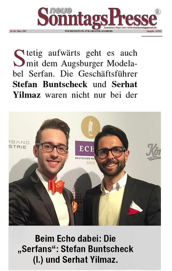Die neue Sonntagspresse berichtet aktuell über die Geschehnisse beim Augsburger Modelabel Serfan.