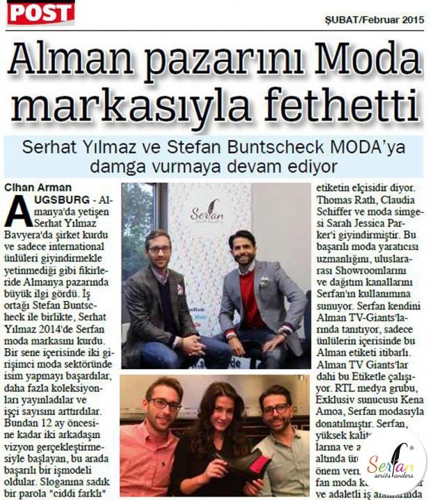 Post berichtet über den Serfan Designer Serhat Yilmaz.