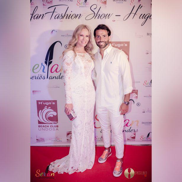 Serhat Yilmaz lädt Prominente, wie Katja Burkard, zur Serfan Fashion Show ein.