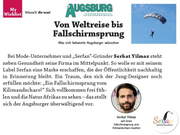 Len Augsburg augsburg journal berichtet über die wünsche des serfan designers