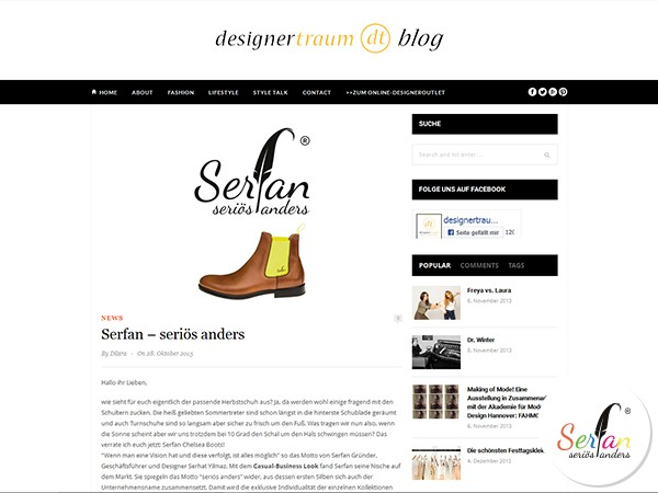 Internet-Blog berichtet über Serfan Chelsea Boots.