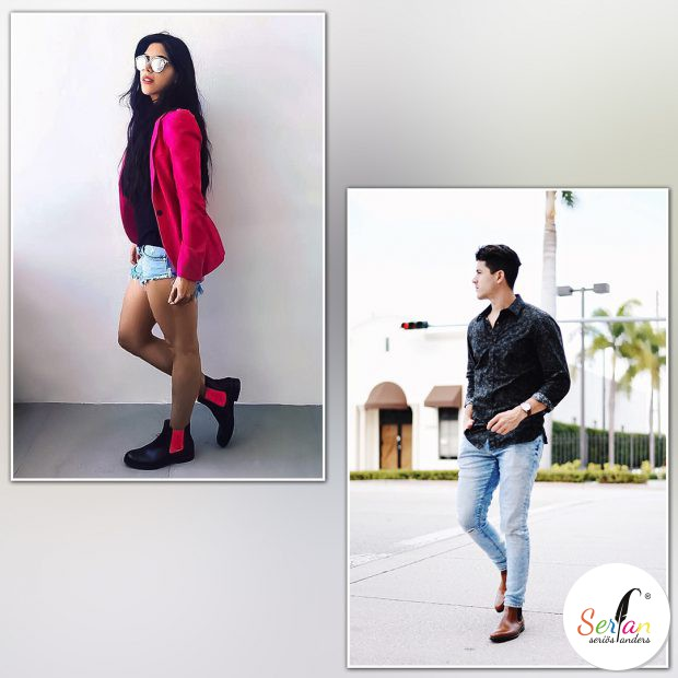 Fashionblogger tragen Serfan Chelsea Boots.