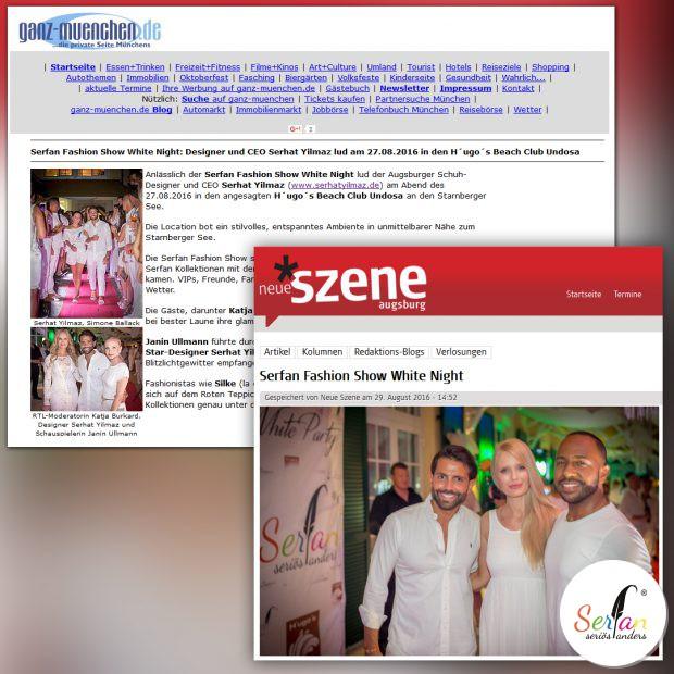 Serhat Yilmaz Serfan Fashion Show ist in der Presse.