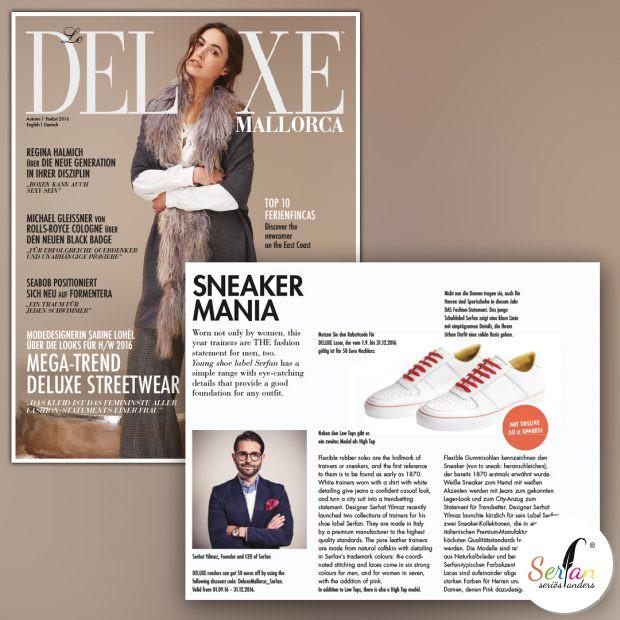 Deluxe Mallorca empfiehlt weiße Serfan Sneaker.