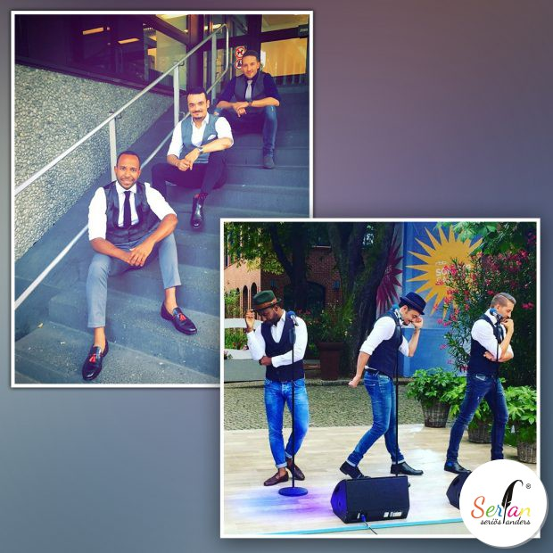 Die Band Vintage Vegas trägt serfan Schuhe im Fernsehen.