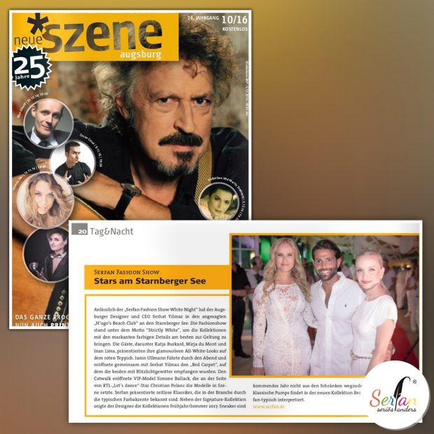 Lifestylemagazin Neue Szene berichtet über Serhat Yilmaz Fashion Show.