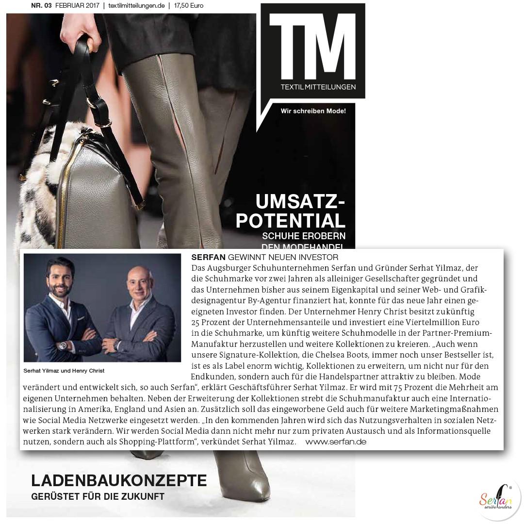 Das TM berichtet über Serfan, den Designer Serhat Yilmaz und den neuen Investor