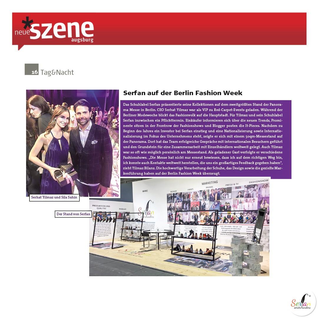 Serfan ist auf der Fashion Week Berlin vertreten, Neue Szene berichtet