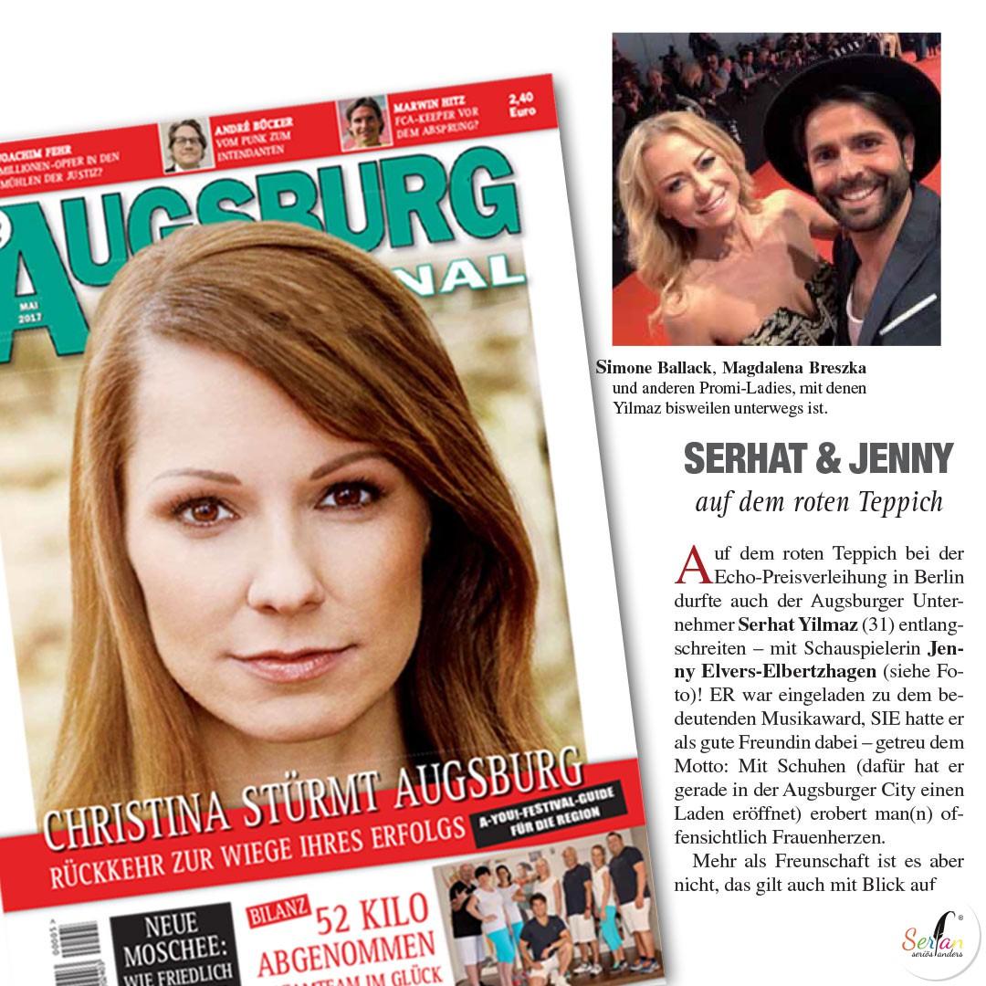 Das Augsburg Journal berichtet über Serhat Yilmaz und seine Begleitung Jenny Elvers