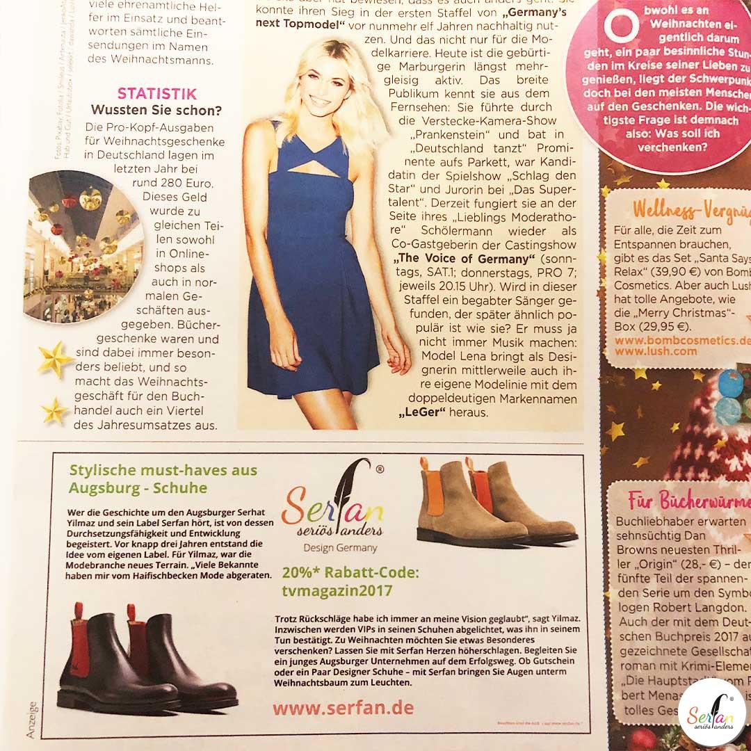 TV-Magazin Serfan Schuhe mit Lena Gercke