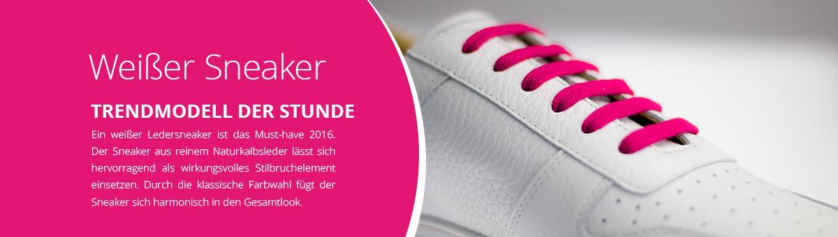 Weißer Sneaker